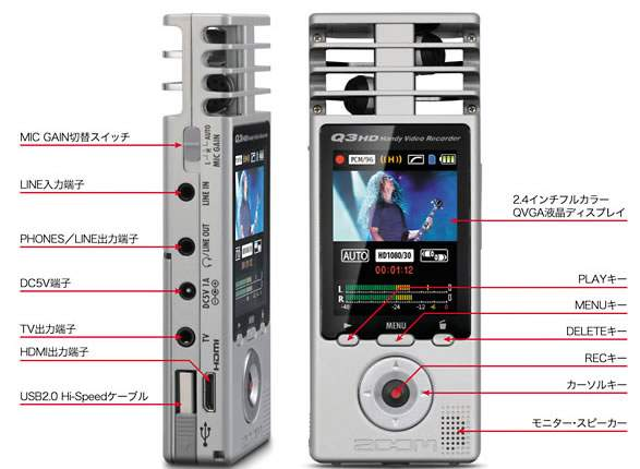 ZOOM Q3HD HANDY VIDEO RECORDERがナイスな件について